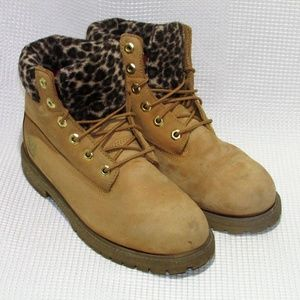 CUSTOM Design UNISEX Leopard TIMBERLAND Boots